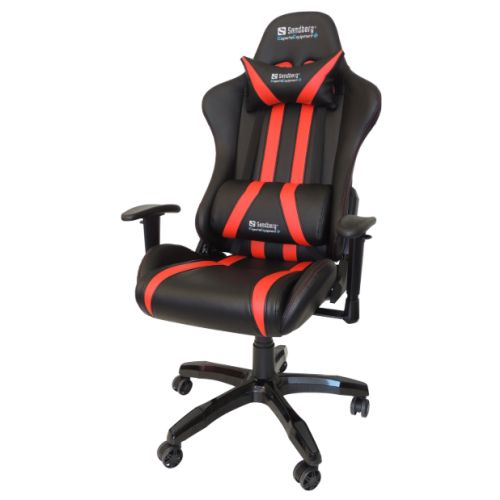 sandberg commander gaming chair tiltable height adjustable black